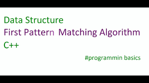 pattern matching algorithm in data structure using c first pattern matching youtube