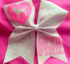 pink bows pink cheer bow