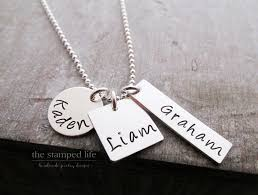 Kids Names Necklace Family Name Necklace Three Kids Personalized Name Necklace