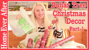 dollar tree christmas decor haul part 1 video home ever after