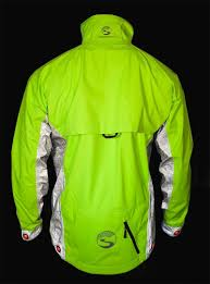 mens hi vis waterproof cycling jacket elite men u0027s hi vis rain jacket w beacon lights sp