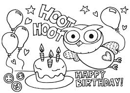 happy birthday coloring card happy birthday coloring pages getcoloringpages