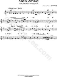 wedding dress chord richard wagner bridal chorus sheet leadsheet in bb major