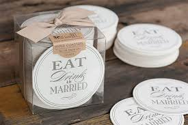 wedding coaster favors 20 lovely wedding coaster designs hongkiat
