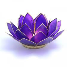 purple lotus flower tea light holder crown chakra