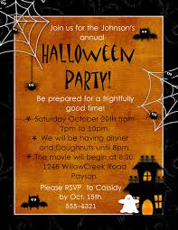 serene free halloween party invitation templates with orange