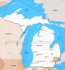 Map Of Upper Michigan by Physical Map Of Michigan