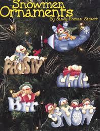 viking woodcrafts snowmen ornaments by holman sacket