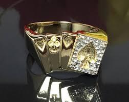 unique mens rings men s black gold ring men s eagle rings