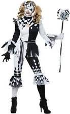 Halloween Costumes Jester Womens Clown Costume Ebay