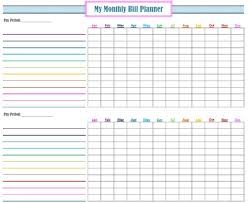 Monthly Bill Spreadsheet Monthly Bills Spreadsheet Template Excel And Monthly Bill Tracker
