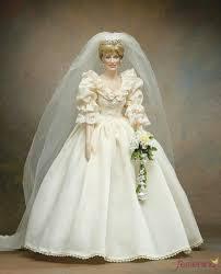 muñeca princesa lady di vestida de novia barbie pinterest