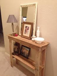 Unique Entryway Tables Rustic Foyer Table Made From Pallets My Is Home Decor