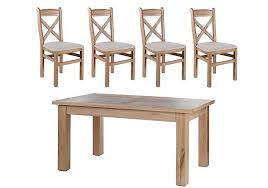 large extending dining table tuscan hills large extending dining table and 4 chairs multi buy