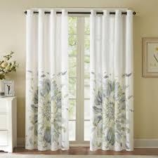 Alton Solid Grommet Window Curtain Panel Solange 84 Inch Floral Watercolor Window Curtain Panel Window