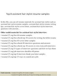 Hair Stylist Resume Template Hair Stylist Resume Template Sample Hair Stylist Resume Top 8