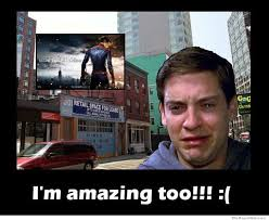The Amazing Spiderman Memes - how tobey maguire felt after seeing the amazing spiderman