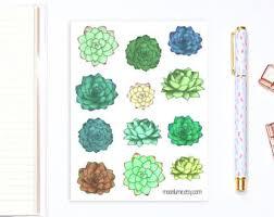 Decorative Journals Terrarium Stickers 10 Decorative Succulent Terrarium