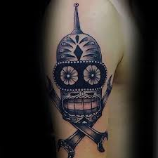 80 futurama tattoo designs for men animation ink ideas