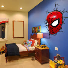Superman Bedroom Ideas by Spiderman Room Decor Walmart Guys Toddler Wallpaper For Bedroom