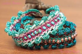 crochet jewelry bracelet images Crochet jewelry tutorial beaded bracelet pattern easy diy jpg