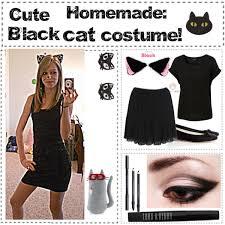 Black Kitty Halloween Costume Tip 06 Cute Homemade Black Cat Costume Polyvore