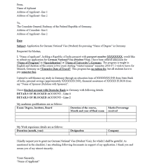sample cover letter visa application france cover letter sample