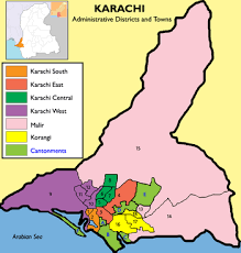 map of karachi template town and cantonment wise map of karachi