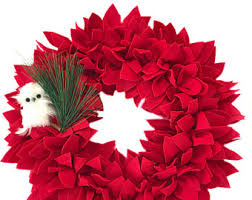 poinsettia wreath etsy