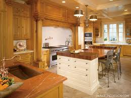 interior wood wall with glass window and wood kitchen island plus