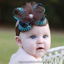 headband online buy turquoise and brown tulle hair bow or baby headband