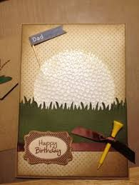 male birthday card with golf theme golf clubs pinterest male
