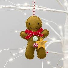 baby u0027s first christmas gingerbread man decoration by miss shelly
