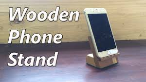 how to make a wooden phone holder youtube
