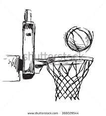 hand sketch basketball hoop ball stock vector 388029544 shutterstock