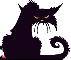 horror cat silhouette free clipart design download