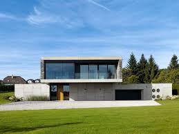 contemporary country steel and concrete cabin architecture glugu