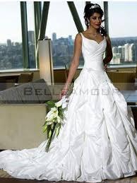 robe de mari e l gante de mariée civil a ligne taffetas élégante longue perles