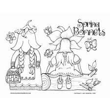 gnomes spring coloring