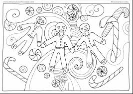 outstanding christmas reindeer coloring page with gingerbread