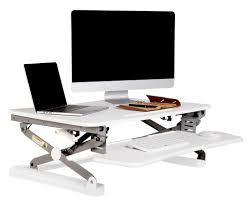 Height Adjustable Computer Desks by Rapid Riser White Height Adjustable Sit Stand Desk Office Stock