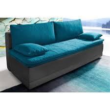 canapé convertible turquoise canapé convertible surmatelas en tissu revêtement synthétique