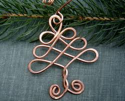 Celtic Home Decor Celtic Tree Ornament Copper Ornament Christmas Tree
