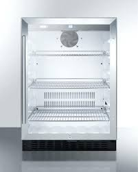 under cabinet beverage refrigerator under cabinet beverage cooler summit built in glass door