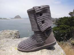 womens knit boots bearpaw knit gray womens boots sheepskinshoes com