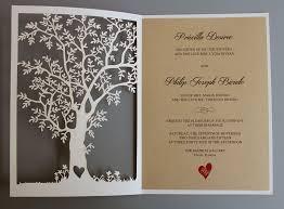 rustic wedding invitations laser cut tree wedding invitation fall wedding invitation cards