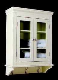 White Bathroom Cabinet With Glass Doors Bathroom White Wooden Bathroom Wall Storage Cabinets With Glass