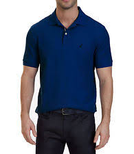 nautica polyester polo rugby solid casual shirts for men ebay