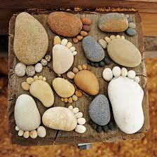 Garden Stone Craft - creating paths of adorable stone footprints footprints paths
