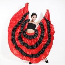 Spanish Dancer Halloween Costume Buy Ladies Spanish Flamenco Fancy Dress Dance Skirt Senorita Rumba